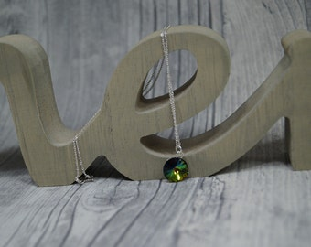 Necklace with SWAROVSKI element stained
