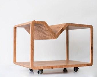 Minimalist Wood Furniture. Wooden Coffee Table Caramel Table Laser Cut   Modern Minimalist