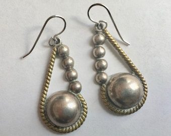 mexican sterling dome earrings