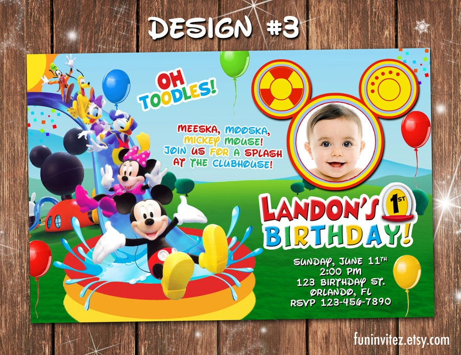 Mickey Mouse Clubhouse Personalized Birthday Invitations   East .