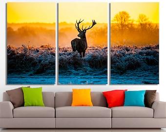 Deer, Deer canvas, Deer poster, Deer print, Deer photo, Deer wall art, Deer home decor, Deer wall decor, Deer canvas art