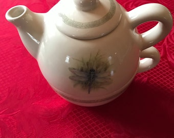 ThristyStone Resources *Single Serve Teapot Set* With Dragon Fly Design*