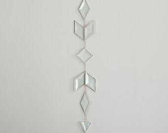 Prism Suncatcher - beveled glass suncatcher - stained glass - rainbows - prism - eco friendly