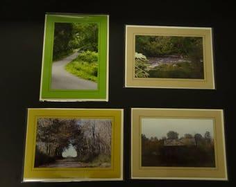 "Set of 4 Original ""Back Roads of Pennsylvania"" Photo Cards with Envelopes"