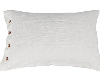 Linen pillow shams - pillow sham linen - linen bedding - linen pillow cases - standard pillow sham - euro shams - king pillow shams