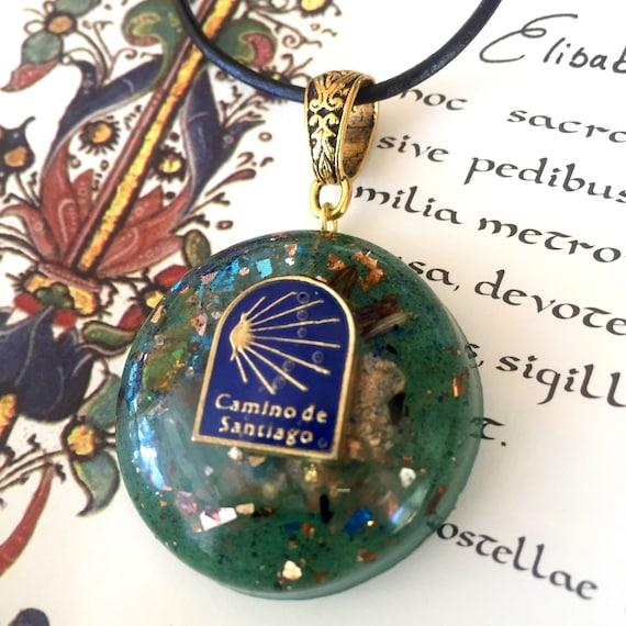 Camino De Santiago Orgonite® Pendant- Scallop Shell Necklace- Buen Camino Charm- St. James Way- French Way- Peregrino Pendant- Pilgrimage