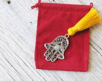 Hamsa, porte-bonheur, main de Fatima, Amulette de Protection, mise au point bijoux