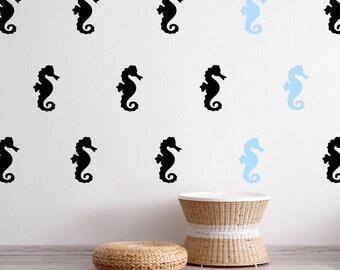 Seepferdchen Wand Aufkleber - Kinder-Kindergarten-Wand-Aufkleber - Meer Tier Wand Muster | PP167