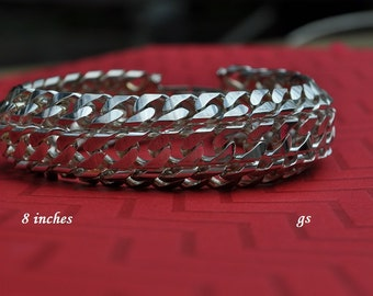 CLEARANCE Vintage Chunky Bracelet, Silver Tone, Chunky Silver Bracelet, 8 Inch Bracelet, Vintage Bracelet, Silver Bracelet Link Bracelet 533