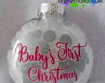 READY TO SHIP - Baby's First Christmas Ornament - Baby's First Christmas - First Christmas - Baby Ornament - Christmas Ornaments - Christmas