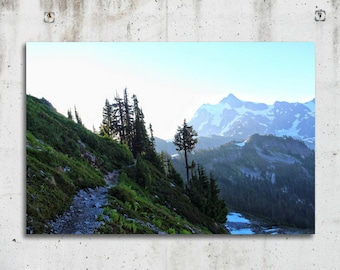 Ptarmigan Trail - Hiking, Scenic, Mountain, Snow, Photography - Mt Baker, Washington - Fine Art Print - Canvas Gallery Wrap - Metal Print
