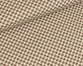 Cotton Woven Julia Hearts Brown (11.50 EUR/meter)