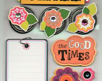 Smile Soft Spoken Scrapbook Stickers Embellishments Cardmaking Crafts Me & My Big Ideas