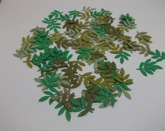 Hand Punched Die Cuts/Embellishments- Green Leaf