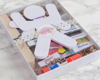 Superhelden Paper Doll Puppe Craft Kits für Kinder und Erwachsene-Set 12