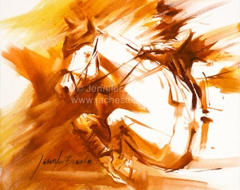 Equestrian Moment Oil Painting