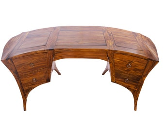Pigeon-Wenge Wooden Desk. Unique wood office desk
