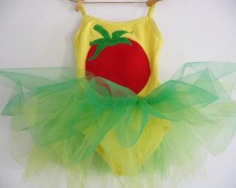 RED TOMATO Tutu - Farmers Market Dress - Birthday Tutu  - Tomato Tutu - Vegetable Dress - Vegeable Tutu