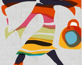 U Go Girl - Giclee Print- Ceci Bowman Designs