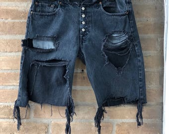 high waisted distressed levi's vintage
