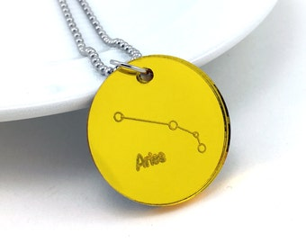 Aires Necklace, Astrology Necklace, Zodiac Sign, Astronomy Jewelry, Zodiac Jewelry, Constellation Pendant, Cosmic Jewelry, Space Pendant
