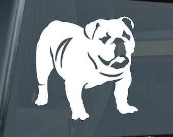 English Bulldog Die Cut Vinyl Sticker - 112