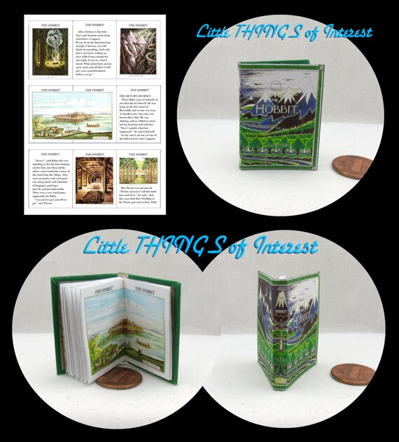 1:6 Scale Miniature Book THE HOBBIT Book Illustrated Readable Book J.R.R Tolkien Play Scale BJD Barbie Book 1/6 scaleLord of the Rings