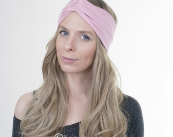 Dusty Pink Turban Headband, Yoga Headband, Workout Hairband, Boho Turban, Twisted Headband, Stretchy Headband, Hair Accessory, Boho Fashion