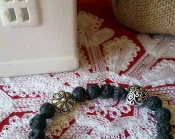 Handmade essential oils diffusing diffuser lava beads stretch bracelet