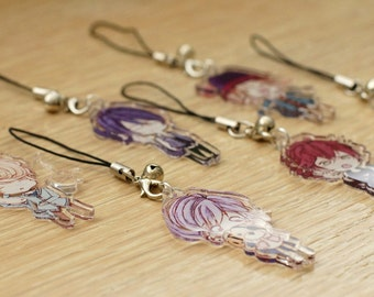 Diabolik Lovers Sakamaki Clear Acrylic Charms
