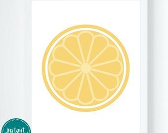 Lemon Graphic Printable Wall Art