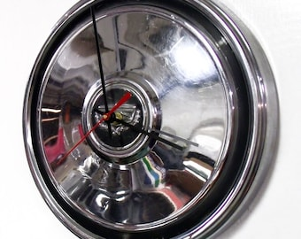 1972 - 1976 Ford Mercury Hubcap Clock - Torino Ranchero Montego Hub Cap - 1973 1974 1975 Automotive Art - Man Cave Garage