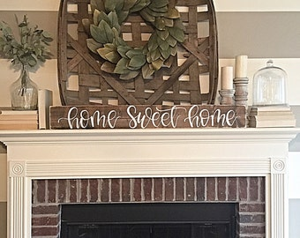 Home Sweet Home Sign | Rustic Home Decor | Hand Painted Sign | Wood Sign | Rustic | Home Decor