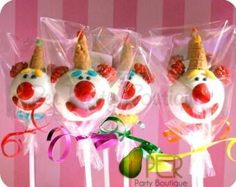 Cute Clowns Cake Pops