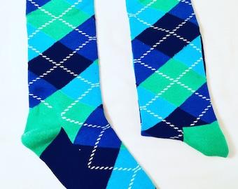 Mens Argyle Dress Socks | Colorful Socks |Gift for Men | Cool Socks | Funky Socks | Happy  Socks