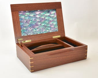 Jewellery Box, Jewellery storage, handcrafted Jewellery Box, Wood Jewellery storage box, gift for her or him.