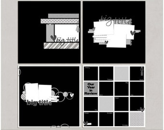 Sample Pack 26 - 12x12 Digital Scrapbooking Templates