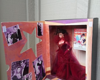 1994 Scarlett O'Hara Barbie Doll NRFB Gone With The Wind Red Velvet Birthday Party Dress Hollywood Legends Collection Mattel Collector Gift