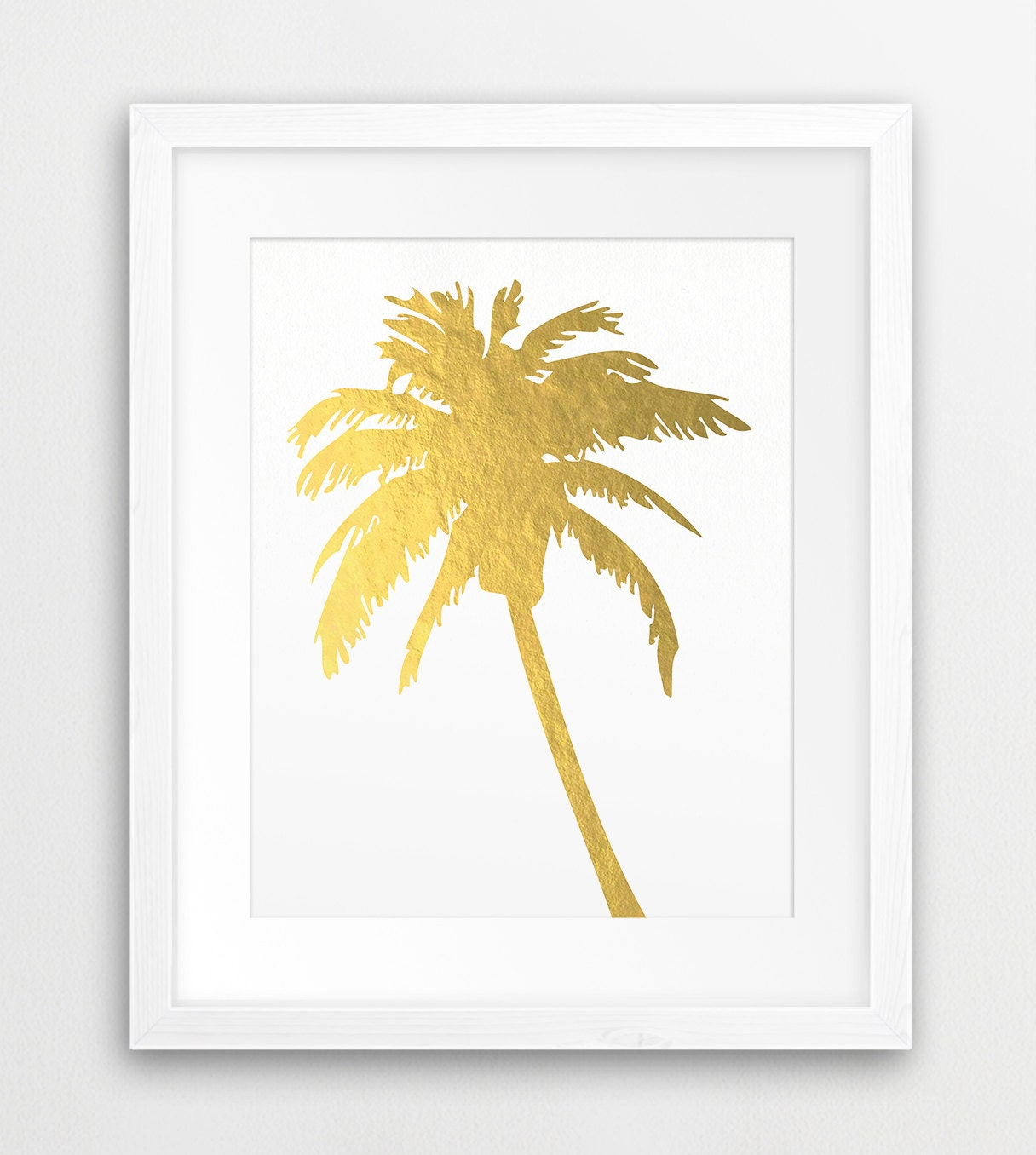 Palm Tree Gold Printable File Palm Silhouette Gold Foil