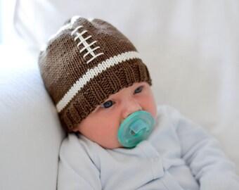 Knitting Pattern - Football Baby Hat Knit Pattern