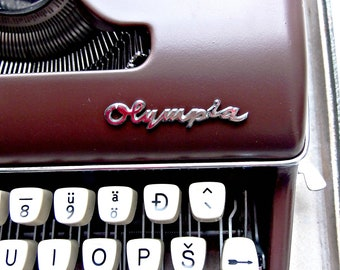 Chocolate Olympia typewriter