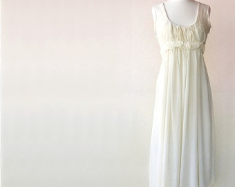 Aphrodite wedding gown - silk chiffon and organic cotton - custom made