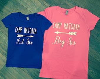 Camp sister shirt set