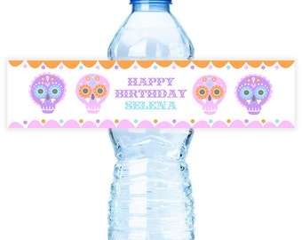 Sugar Skull #Party Water #Bottle #Labels