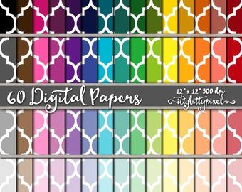 Moroccan Scrapbook Paper, Trellis Scrapbooking Paper, Lattice Digital Paper, Moroccan Pattern Backgrounds, Lattice Paper, Moroccan Paper