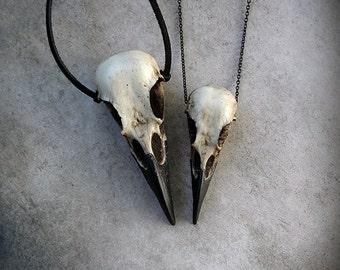 Raven Skull Duo: Bird Skull Necklace Set (Save 6%) Zombie Gift