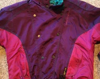 Vintage 80's 90's Couloir Colorblock Ski Board Jacket Size 6/ Obermeyer Colorblock Jacket/Vtg Ski Jacket