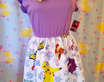Pokemon dress, 90s cartoon anime con Japan kawaii fashion retro size L large