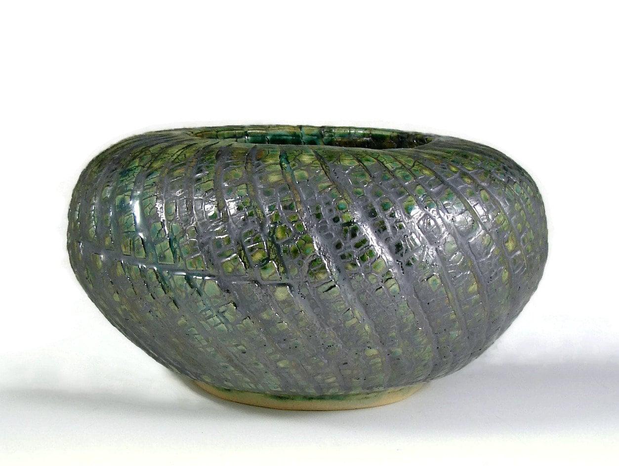 Ceramic vase green bark texture handmade sculpture pottery zoom reviewsmspy