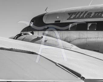 DC-3 Metal Photographic Print - Aviation Art